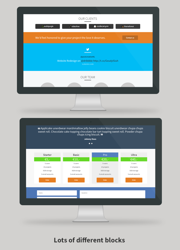 Crtv - Responsive Flat One Page Template